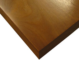 Custom African Mahogany Flat Grain Wood Counter