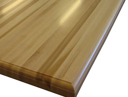 Custom American Beech Edge Grain Wood Countertop
