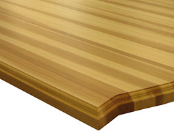 Custom Beech Edge Grain Wood Countertop