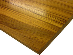 Photo of a Burmese Teak Edge Grain Wood Countertop