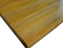 Photo of a Plantation Teak Edge Grain Wood Countertop