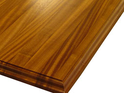 Custom Sapele Mahogany Edge Grain Wood Countertop Photo