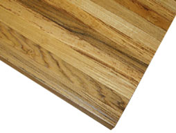 Photo of a Teak Edge Grain Wood Countertop Photo