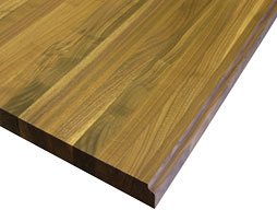Image of a Custom Walnut Edge Grain Wood Countertop