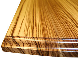 Photo of Custom Zebrawood Flat Grain Counter
