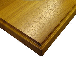Photo of Iroko Flat Grain Wood Counter