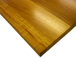 Photo of Iroko Wood Flat Grain Counter