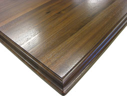 Photo of a Walnut Wood Countertop in Edge Grain Construction