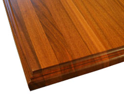 Photo of a Sapele Mahogany Edge Grain Wood Countertop