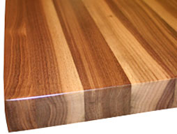 Image of a Walnut Edge Grain Wood Countertop