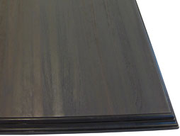 Photo of a Wenge Wood Countertop in Edge Grain Construction