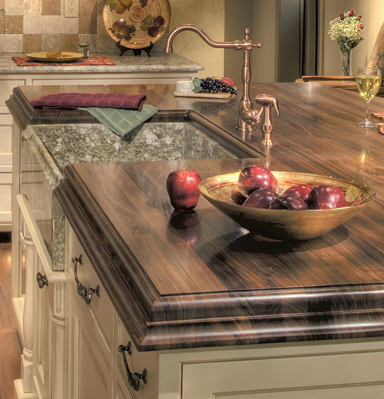 Countertop Lavatory Sink : Wood Countertops with Sinks by Grothouse