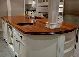 African Mahogany Wood Counter