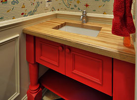 American Beech Wood Countertop