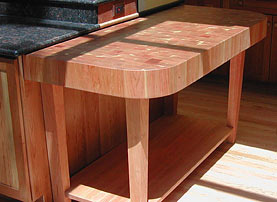 Cherry Wood Butcher Block Countertop