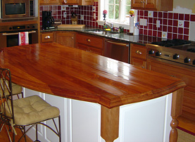 Genuine Mahogany Island Wood Countertop