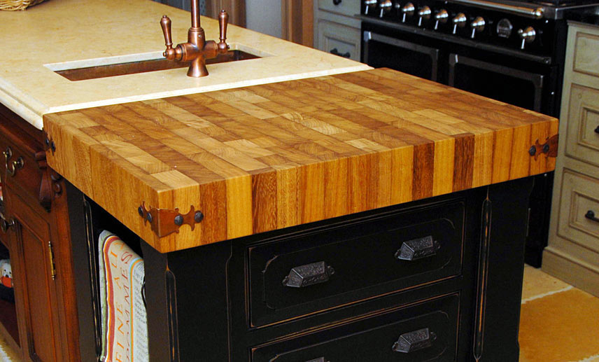 Iroko Wood Butcher Block Countertop