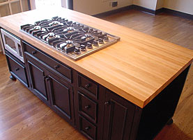 Custom Hard Maple Wood Counter