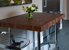 Charming Walnut Wood Butcher Block Countertop