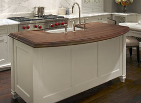 Walnut Island Wood Countertop