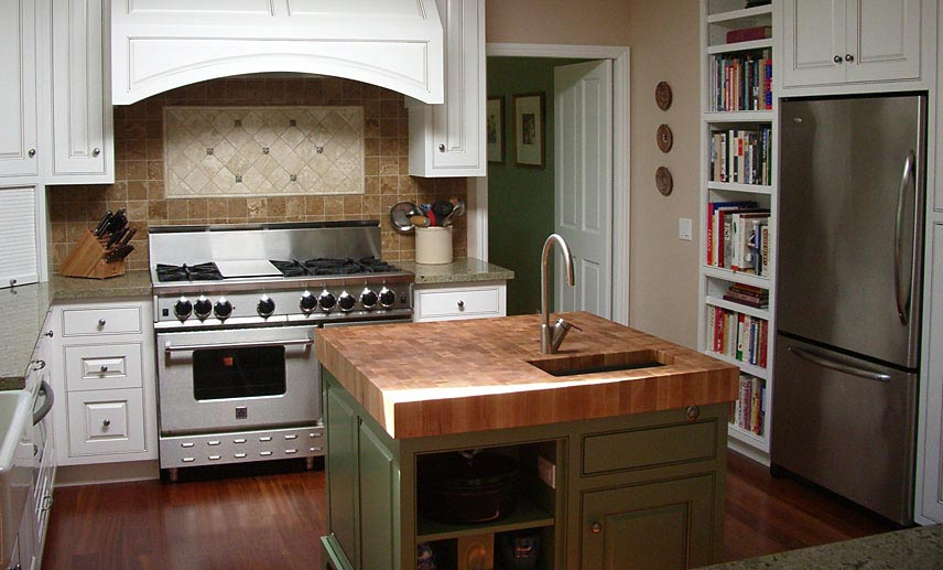 White Oak Island Wood Countertop