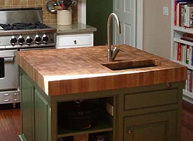 White Oak Island Wood Countertop