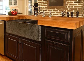 White Oak Wood Kitchen Island Countertop