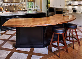 Zebrawood Wood Bar Top