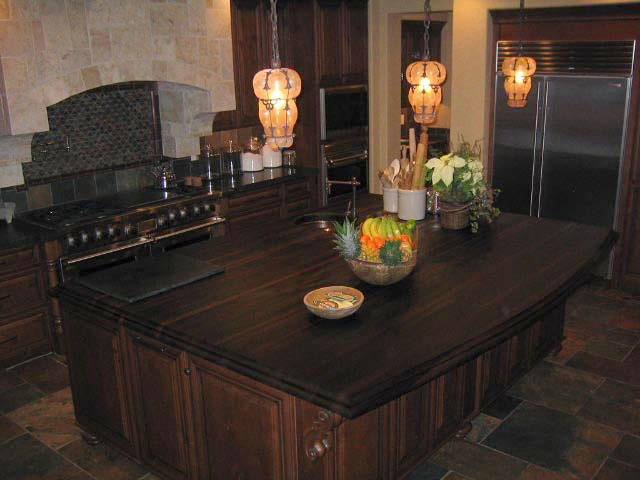 Wood Countertop Island by Grothouse California