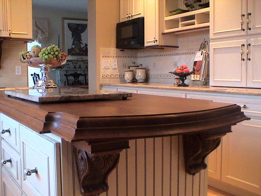 Wood Countertop Island MD