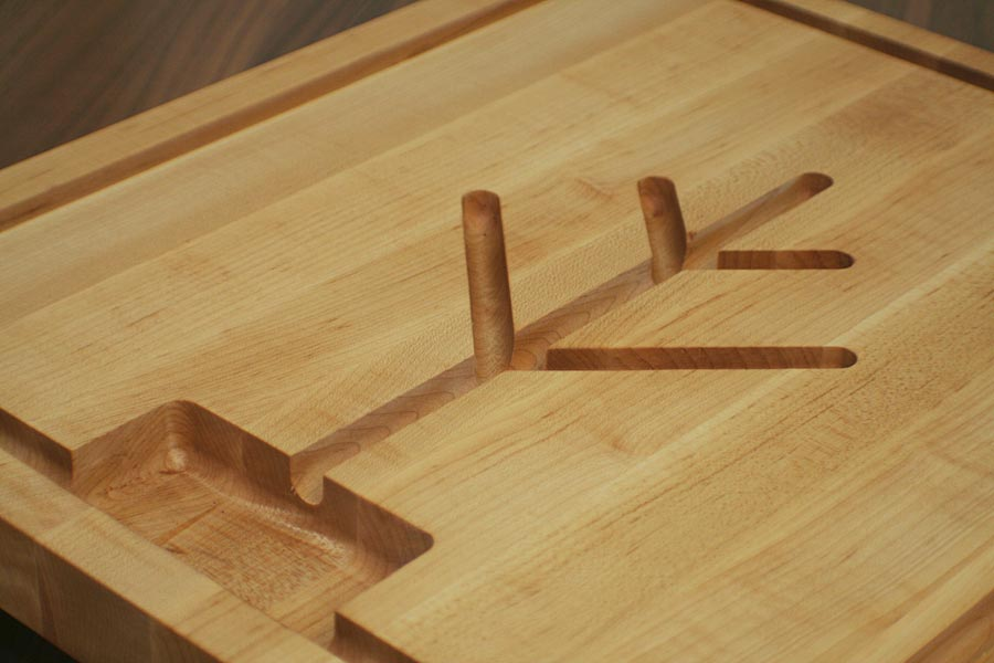 Butcher Block decorative Pattern for juice or blood grooves