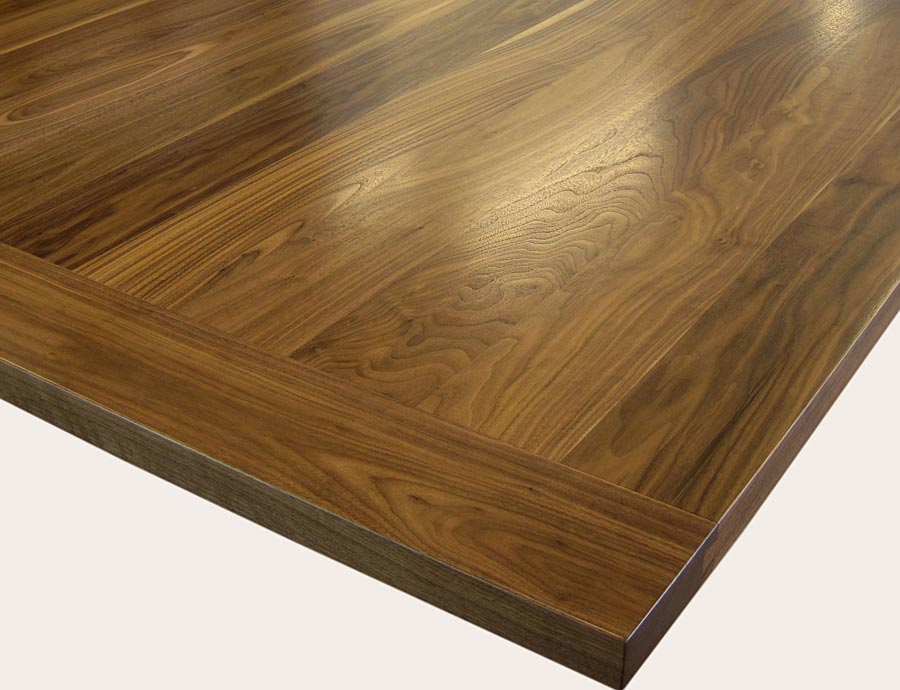Wood countertop with breadboard end