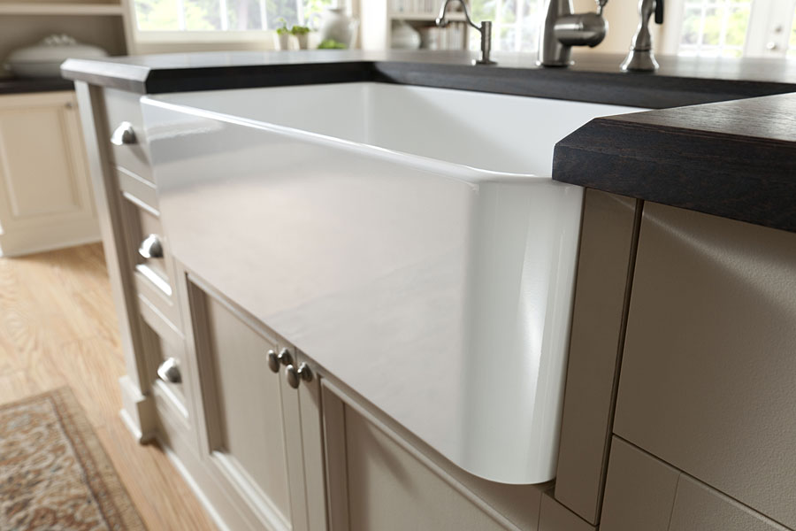 Attirant Dark Wenge Wood Countertop With Undermount Sink