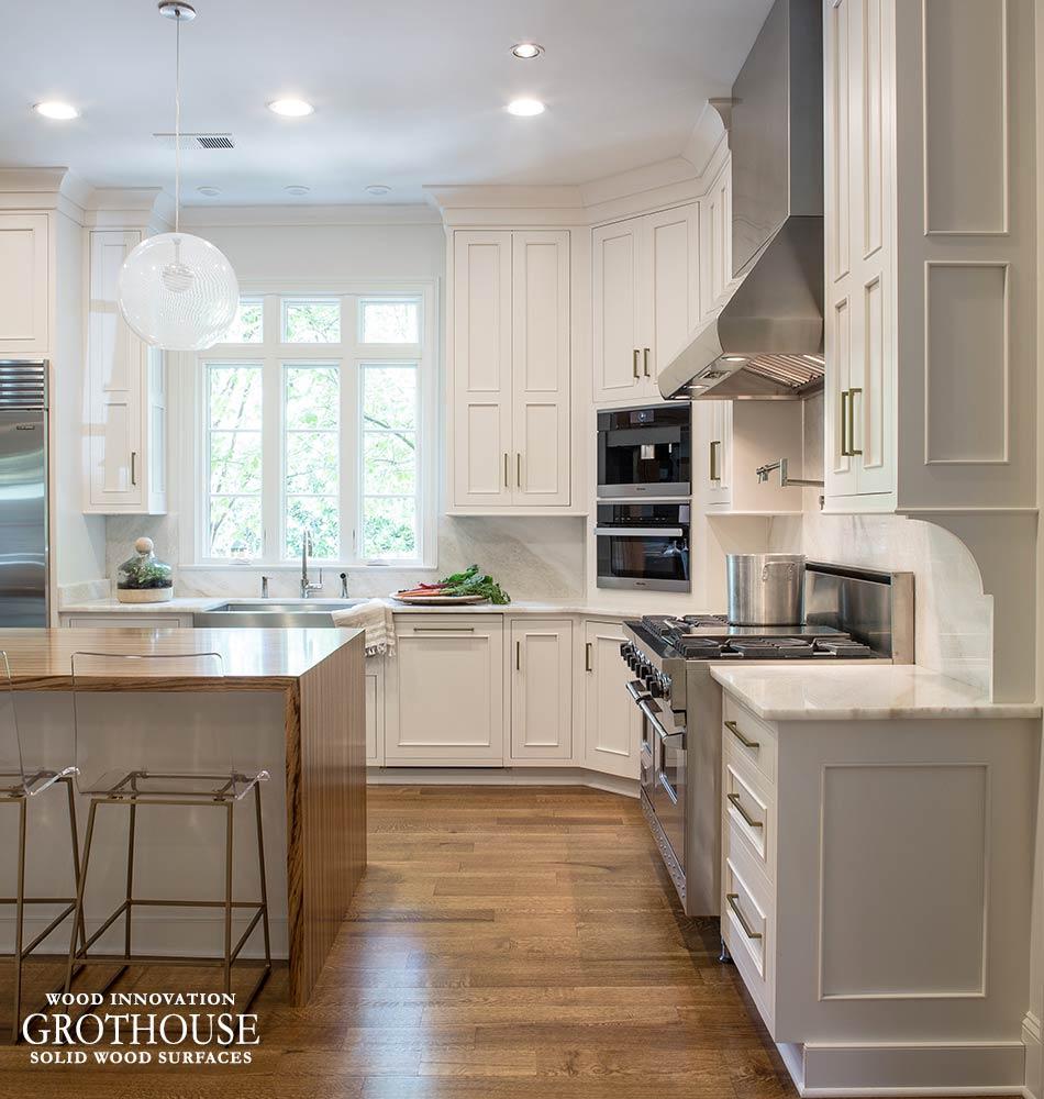 Kitchen Countertops Options: Pastore Zebrawood Waterfall Countertop In Memphis TN