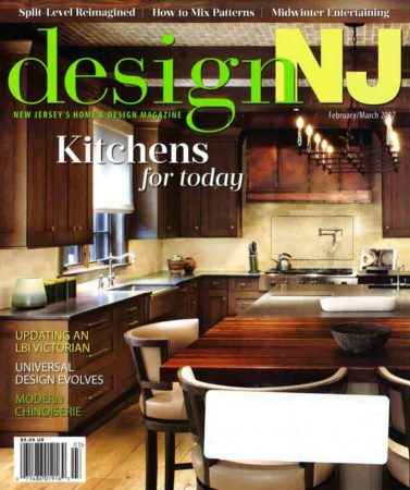 Grothouse Walnut Countertop on Cover of Design NJ Magazine February March 2017 Issue