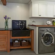 African Mahogany Laundry Room Counter in Washington