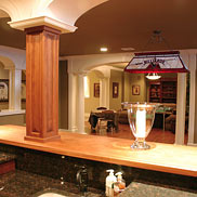 Custom Brazilian Cherry Wood Bar Top in Chester, NJ