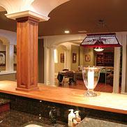 Custom Brazilian Cherry Wood Bar Top in Chester, NJ