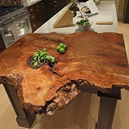 Live Edge Countertop in Kips Bay Decorator Showhouse Kitchen