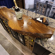 English Wych Elm Live Edge Countertop in Medina, OH