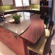 Peruvian Walnut Wood Countertop in Denver, CO