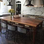 Custom Antique Reclaimed Chestnut Wood Table in New York