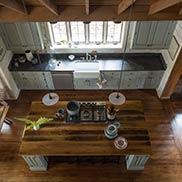 Reclaimed Oak Kitchen Island Counter in Rock Hill, NY