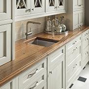 Sapele Mahogany Wood Counter with Blanco sink