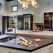 Wenge Kitchen Island Countertop in New York