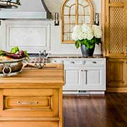 White Oak Kitchen Island Top for a Traditional Kitchen