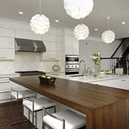 White Oak Half Parson Table for a kitchen in Washington DC