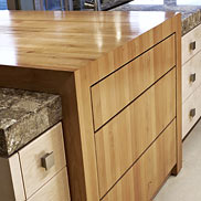 Alder Wood Countertop in North Dakota