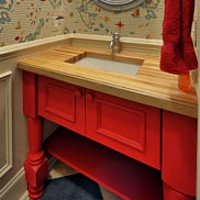 American Beech Wood Vanity Top