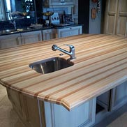 American Beech Wood Countertop in San Antonio, TX